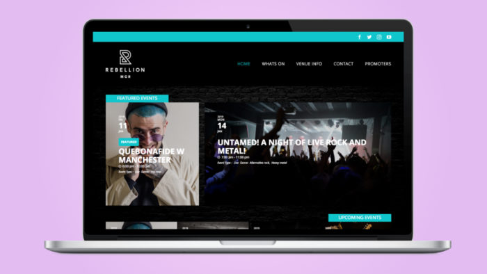 Website design for Rebellion Manchester