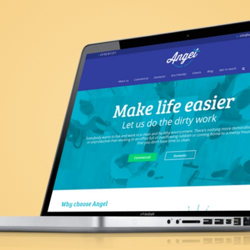 Website design for Angel Cleaning