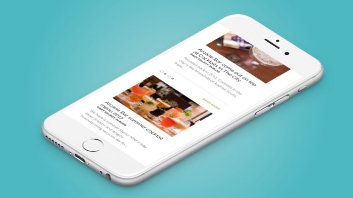 Mobile phone website design