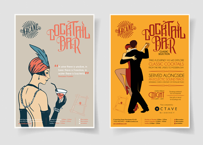 Poster design for Arcane Bar